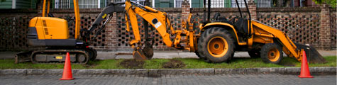 Backhoe and Front-end Loader Curbside
